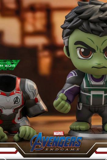 Cosbaby Hot Toys COSB551 Avengers: Endgame Hulk Team Suit Bobble-Head S